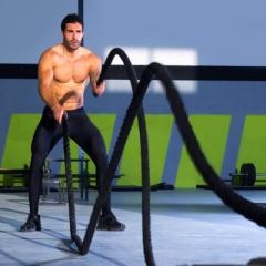 巨环专业健身甩大绳ufc体能训练绳MMA格斗绳肌肉爆发力训练战斗绳