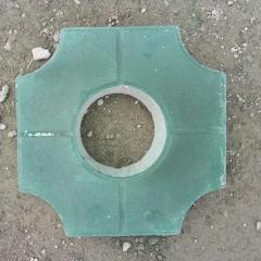 彩砖批发定制质量保障 井字型植草砖 八字型草坪砖 停车位砖