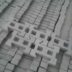 彩砖厂家批发护坡砖系列混凝土面包砖灰色路沿石路边石人形道路草