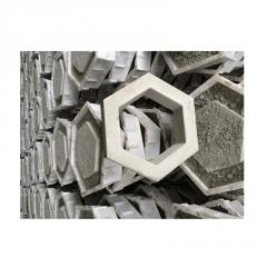 河道护坡砖空心六角形 水利混凝土六棱边长20河道公路护坡砖
