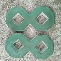 八字九孔井字植草砖 水泥井字形草坪砖 停车场专用 8字砖厂家