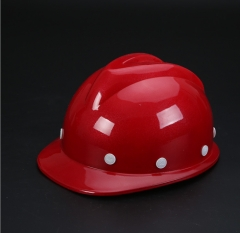 国标工地施工安全帽加厚高强度abs安全帽吸汗透气v型玻璃钢安全帽