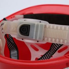 威武施工PE安全帽ABS玻璃钢V型安全帽工地防尘防护帽矿工可按电灯