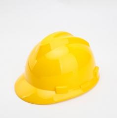 加厚室内装修防尘帽防护头盔电工V型保护帽 插接式工地防砸安全帽