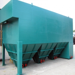 定制高效一体化污水斜板管沉淀池器设备高密度小型三级竖流式斜管