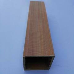厂家直销 生态木 50*50方木方通  商场酒店隔栅 绿可木 装饰材料
