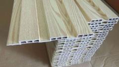 厂家直销 防水防火  多种覆膜 生态木195*12包覆 绿可木 长城板