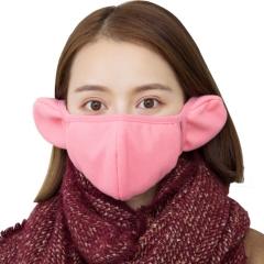 新款男女时尚骑行保暖口罩加厚防风防尘口罩二合一冬季纯棉护耳套