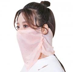 夏季防晒口罩防紫外线薄款面纱透气户外女遮阳护颈脸夏天面罩全脸