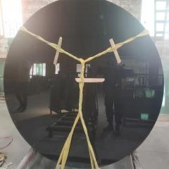 厂家直销供应 黑茶色桌面异型钢化玻璃,精磨边,来图专业定制