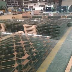 厂家直销加工6mm- 12mm高温彩釉玻璃外墙玻璃 按图加工彩釉丝印