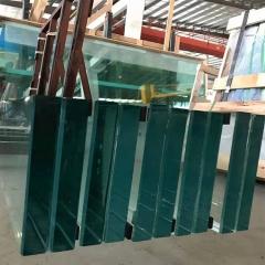 玻璃厂直销供应 超长超厚 15-25MM 异型 精磨边 钢化玻璃