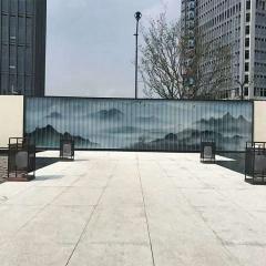 厂家直销 建筑幕墙U型钢化玻璃,香梨防爆夹画,高档装饰专业定制