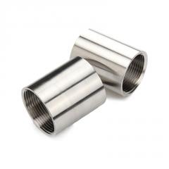 201/304不锈钢管内丝/焊接内外丝直通/丝扣螺纹水管接头3分4分6分