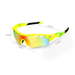 户外偏光自行车骑行眼镜 防风沙钓鱼眼镜 山地车运动太阳风镜