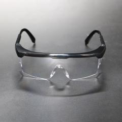可伸缩镜腿防护眼镜 防雾防飞溅密闭防护眼镜 透气防风护目镜