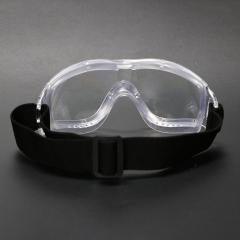 透明全包裹式防护眼镜 大框一体式防雾防飞溅防唾液护目镜