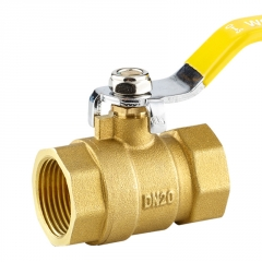 手动黄铜球阀  二片式双内丝球阀流量控制阀门米勒公司源头厂家