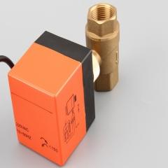 空调地暖微型电动两通球阀 三线二控电动球阀门米勒公司源头厂家