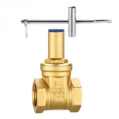 黄铜带锁闸阀 自来水公司专用表前锁闭阀门米勒阀门公司