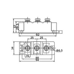 上海椿整厂全新MTC160A1600V晶闸管模块可控硅模块双向可控硅模块