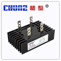 上海椿树整流桥QL 35A60A100A300A大功率桥式桥堆整流器带散热器