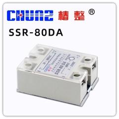 上海椿树SSR40A100A小型24V固态继电器12V交流220V直流控交流