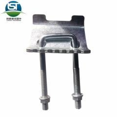 厂家自产自销国标抗震配件 镀锌管廊支架托臂压板碳钢材质