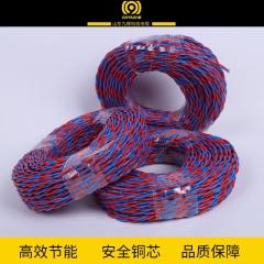货源供应九辉ZR-RVS2.5平方电线电缆 聚氯乙烯护套监控线路电缆
