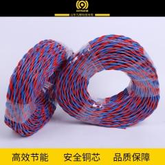 厂家直销九辉ZR-RVS1平方电缆线  100米监控线路批发阻燃铜芯电线