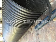 HDPE双壁波纹管 市政民用塑料排水管污水管 塑料加筋排水管