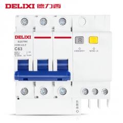德力西漏电保护器 2P63A32a空气开关断路器DZ47电闸家用 空开漏保