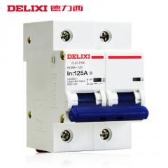 德力西断路器大电流大功率家用过载电闸1P2P3P 100A空气开关 空开