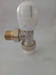 铜温控阀ppr角式暖气片用阀门水管配件散热器调温阀手动水阀开关