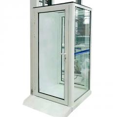 定制家用小型别墅电梯二层家用小型电梯无地坑室外观光液压电梯