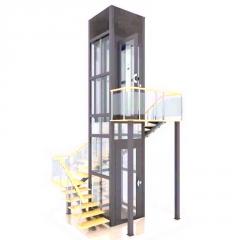 定制家用电梯二层别墅观光电梯无底家用小型电梯住宅井道观光电梯