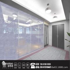 夹丝玻璃 批发办公酒店隔断工程夹娟山水画橱窗 淋浴房颜色玻璃