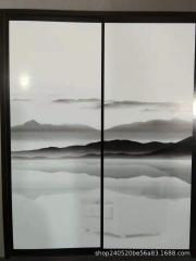 夹丝玻璃 夹画玻璃 淋浴房玻璃 酒店隔断 背景墙玻璃 屏风隔断