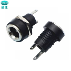 耐高温DC电源插座 DC-0220B 阻燃DC电源插座 180度DC电源插座