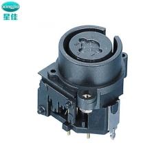 XLR带锁卡侬母座 SPC-05A  组合卡侬座 DIN插座 多功能卡侬插座