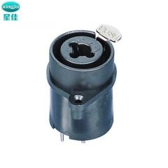 板式卡侬座? SPC-12 XLR连接器 XLR卡侬母座耐高温 XLR 插口