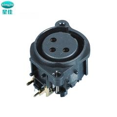 厂家直销卡侬插座 SPF-07C  XLR连接器 卡侬母座 带锁母座