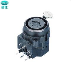XLR卡侬母座 SPC-16A NEUTRIK连接器 带防水盖卡侬座五芯卡侬公座