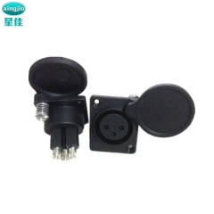 xlr连接器 SPF-016  电动轮椅充电卡侬插座 XLR三芯卡侬母座
