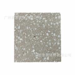 通体无机人造石地砖 预制水磨石板 墙地面台面道具砖荒料大规格板