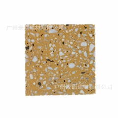 彩色多变人造石 通体水磨石 预制无机水磨石荒料 大规格水泥板