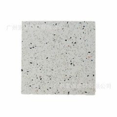 水泥基水磨石砖 白色小骨粒预制无机石 艺术人造石板  水磨板砖