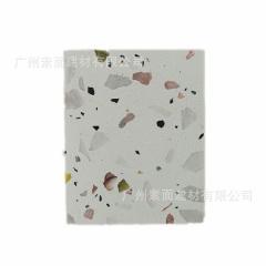 广东工厂直销 彩色颗粒多变人造水磨石板 预制无机通体水磨石砖