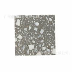 水泥基天然大理石料环保多变人造石 预制无机水磨石荒料 厂家直销