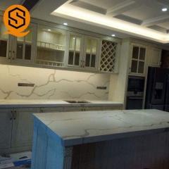 广东可丽耐人造石英石鱼肚白厨房台面厂厨房橱柜台面中岛桌面定做